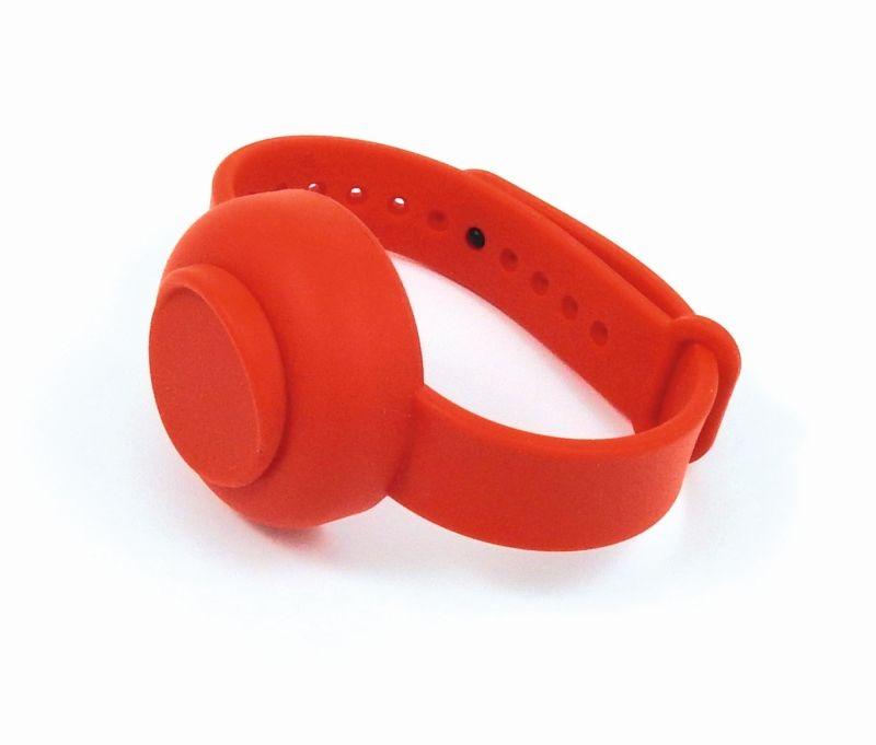 Security Watch - Opaska na rękę w formie zegarka z pojemnikiem na żel antybakteryjny